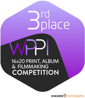 3rd Place WPPI 16x20 Print, Album, & Filmmaking Competition Badge