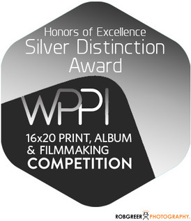 Silver Distinction WPPI 16x20 Print, Album, & Filmmaking Competition Badge