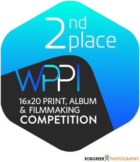 2nd Place WPPI 16x20 Print, Album, & Filmmaking Competition Badge