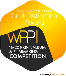 Gold Distinction WPPI 16x20 Print, Album, & Filmmaking Competition Badge