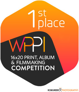 1st Place WPPI 16x20 Print, Album, & Filmmaking Competition Badge