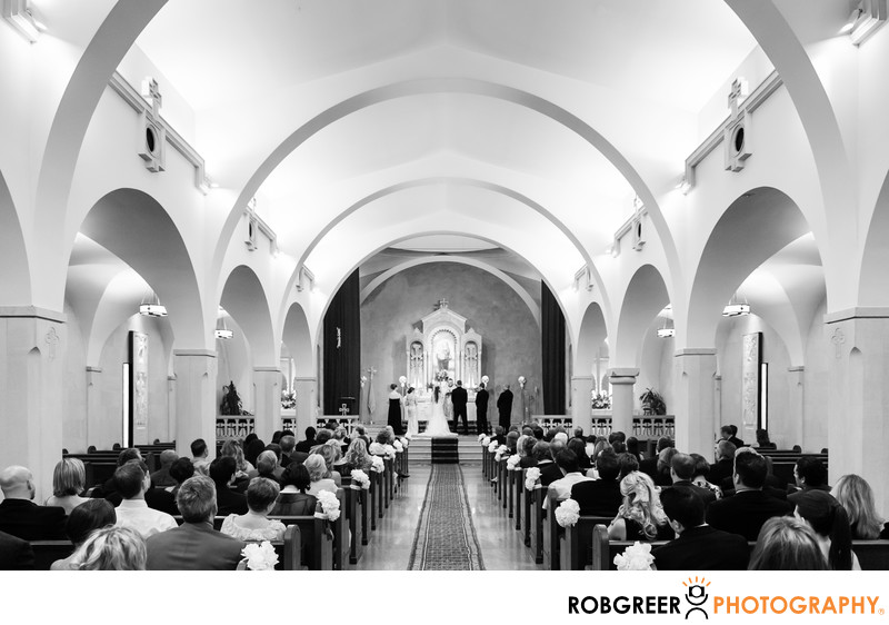 Wedding Ceremony At St Monica 39 S Catholic Church