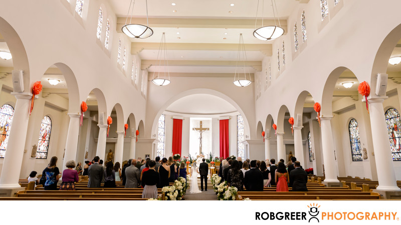 Wedding Ceremony at Good Shepherd Catholic Church