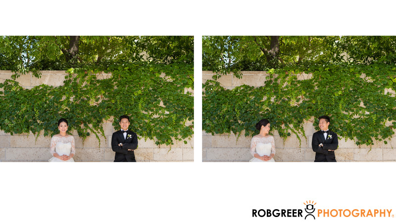 Fun Portraits with Greenery at Disney Hall
