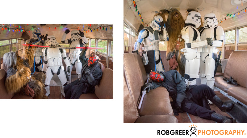 501st Legion Post Wedding Relaxation in Party Bus