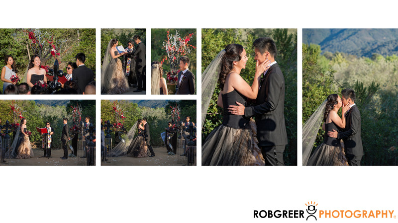 Wedding Ceremony Concludes at Winery Near Solvang