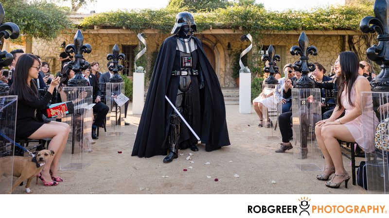 Darth Vader Processes Down Aisle at Star Wars Wedding