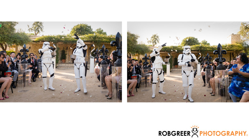 Star Wars Wedding with Stormtrooper Flower Girls