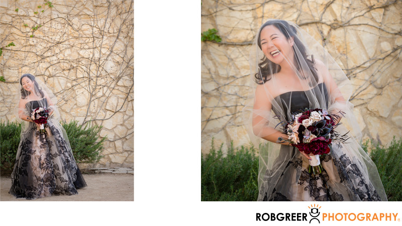 Bridal Portrait at Sunstone Winery in Santa Ynez