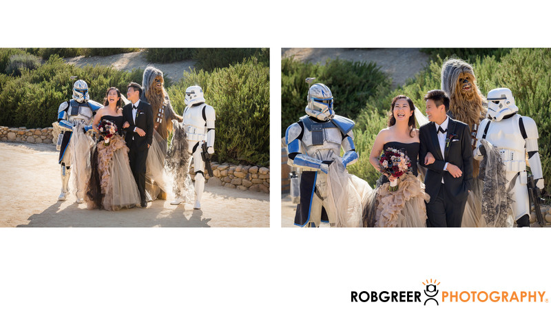 Star Wars Characters with Walking Couple