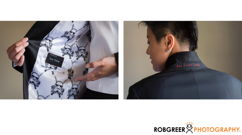 Bespoke Suit Jacket with Custom Stormtrooper Lining