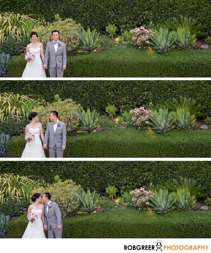 Horizontal Triptych of Couple at Padua Hills Theatre