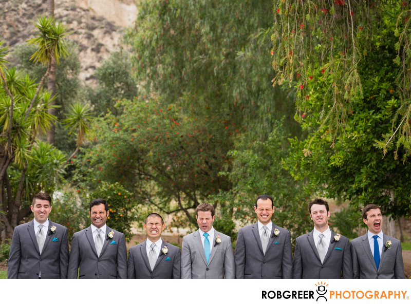 Quirky Groomsmen at Newhall Mansion Wedding