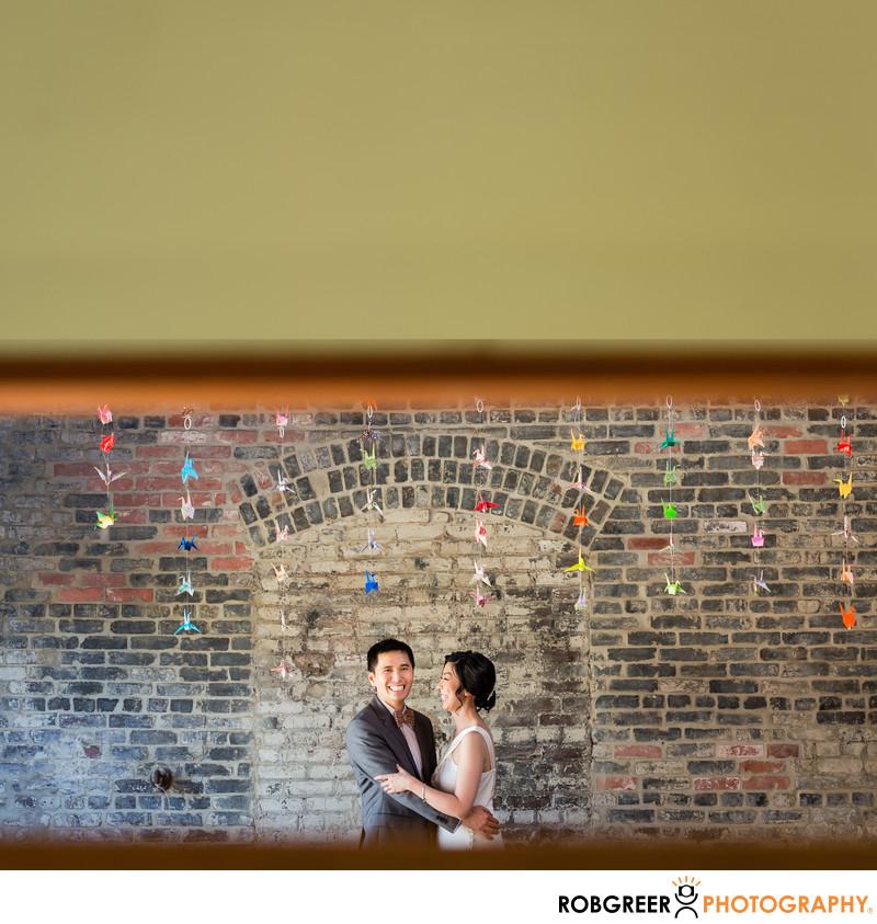 Bride and Groom at Huron Substation