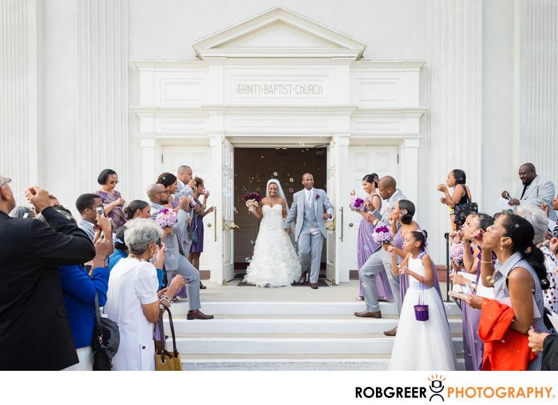 Trinity Church of Santa Monica Wedding Exit