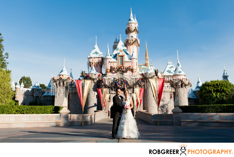 Sleeping Beauty Castle Disneyland Wedding Photographer