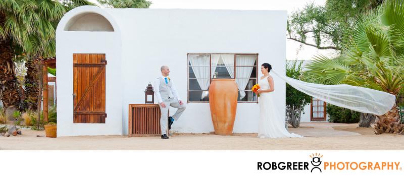 Flying Bridal Veil at Korakia Pensione Wedding