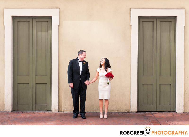Bride & Groom French Quarter Wedding Photographs