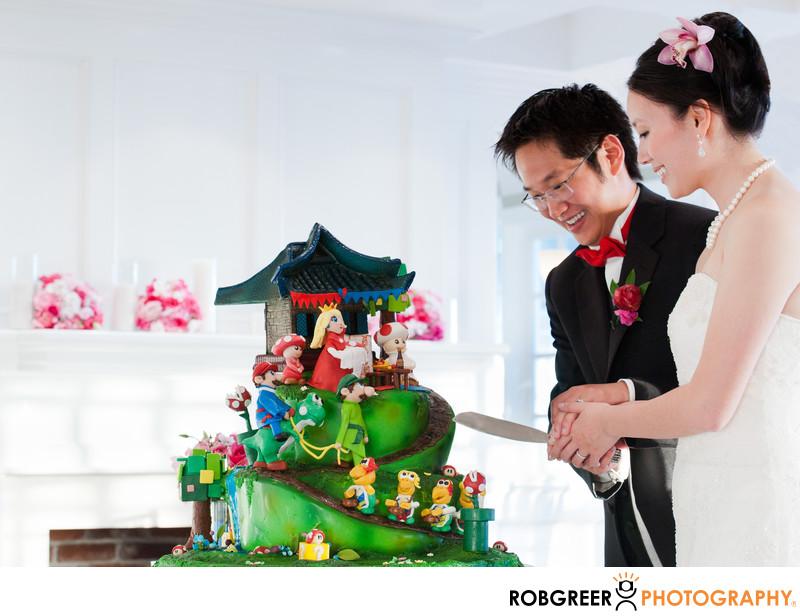Mario Brothers Cake at Verandas Wedding