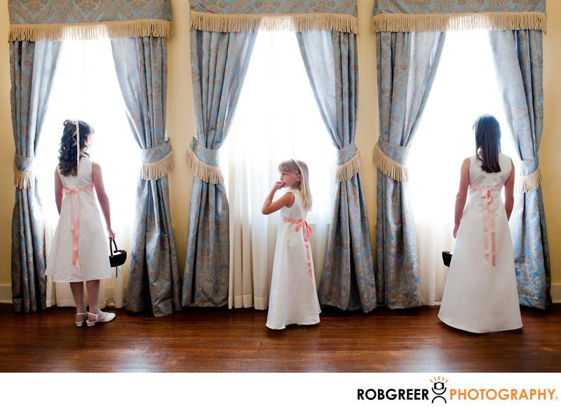 Ebell Club Wedding Flower Girls in Long Beach