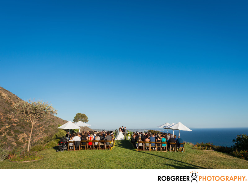 Malibu Estate Wedding Ceremony Photographer