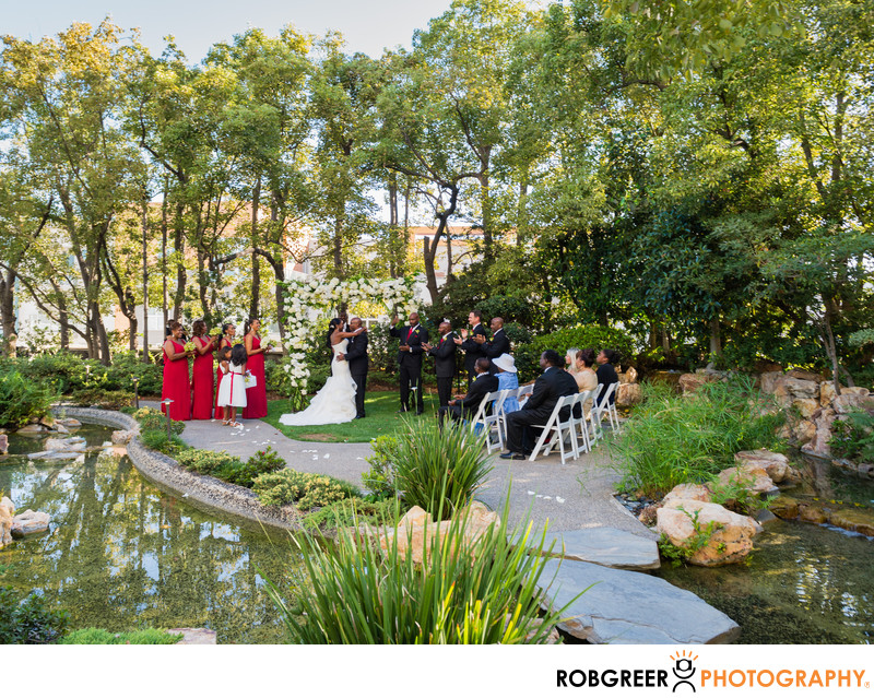 Kyoto Gardens at Doubletree Hotel Wedding Photographer