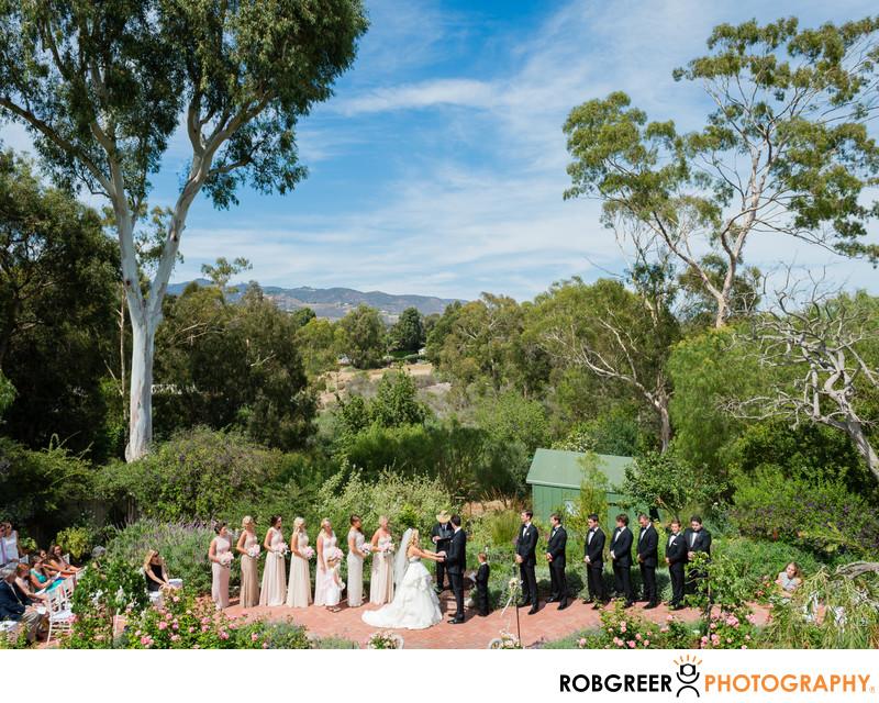 Malibu Estate Wedding Ceremony Photography