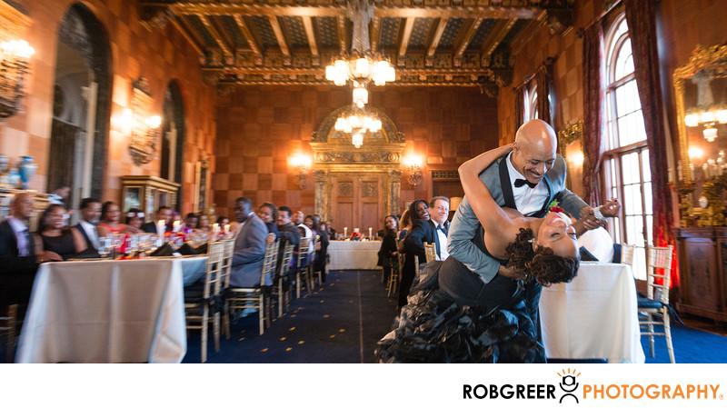 First Dance at Malibu Wedding at Villa Del Leon