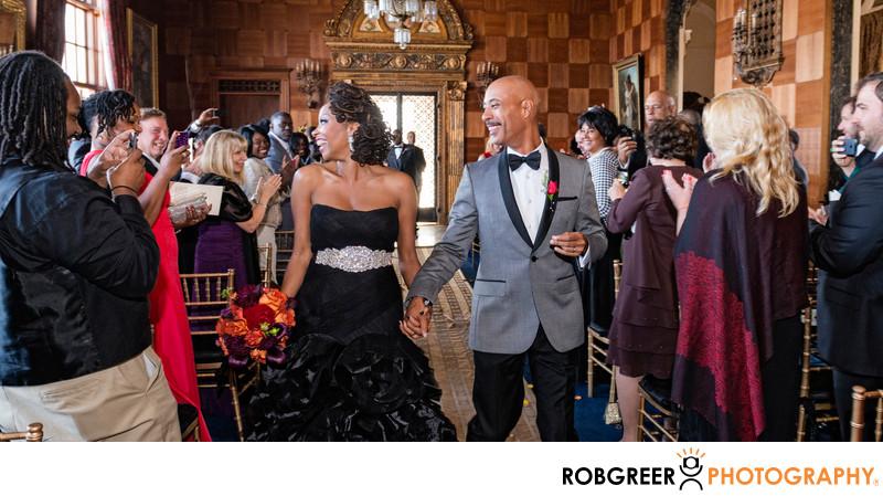 Wedding Recessional at Villa Del Leon in Malibu