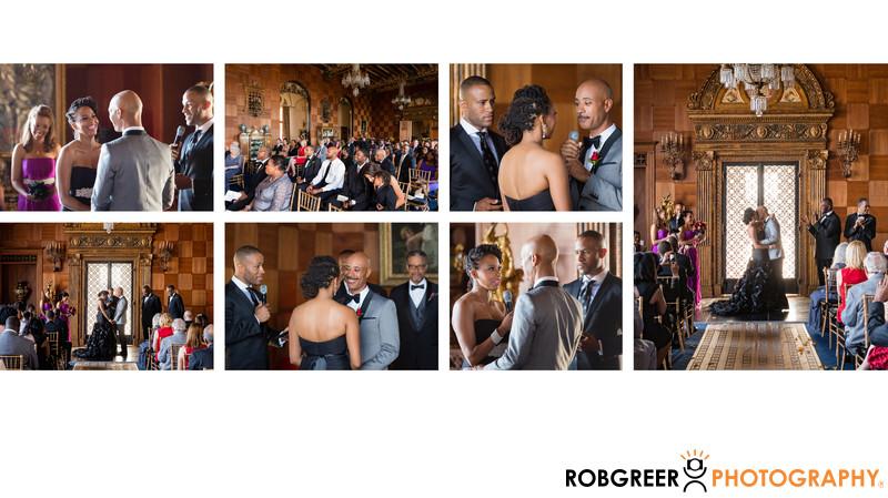 Wedding Ceremony Details at Malibu's Villa Del Leon