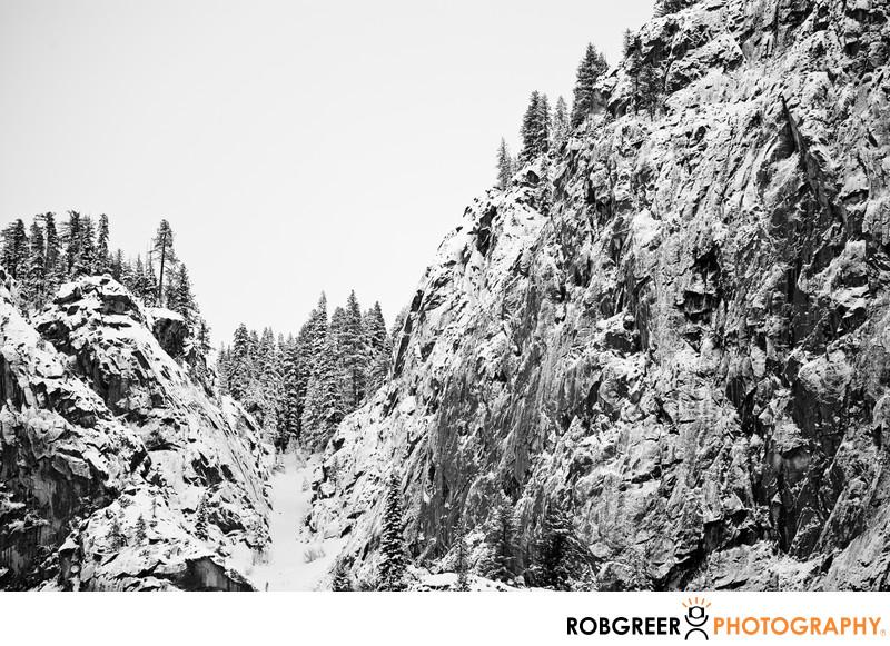 Sentinel Falls Frozen Winter Peak