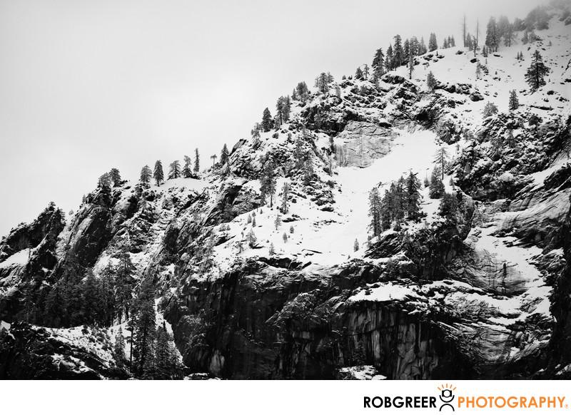 Rugged Mountaintop during Yosemite Winter