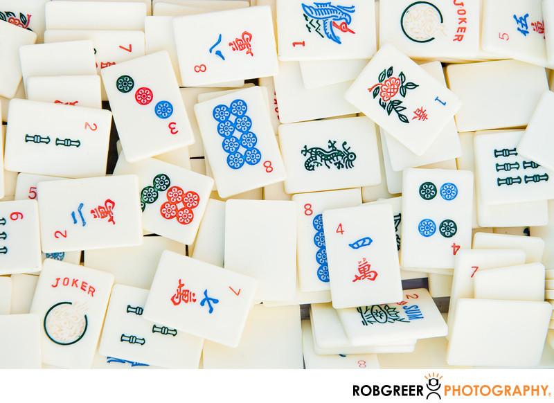 Asian Tile Game Pieces