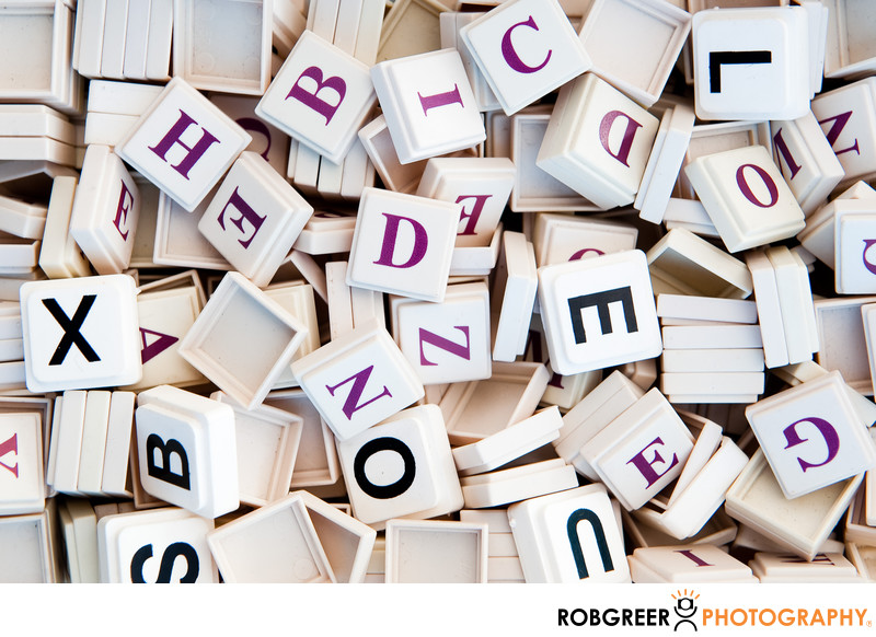 Plastic Letter Game Pieces
