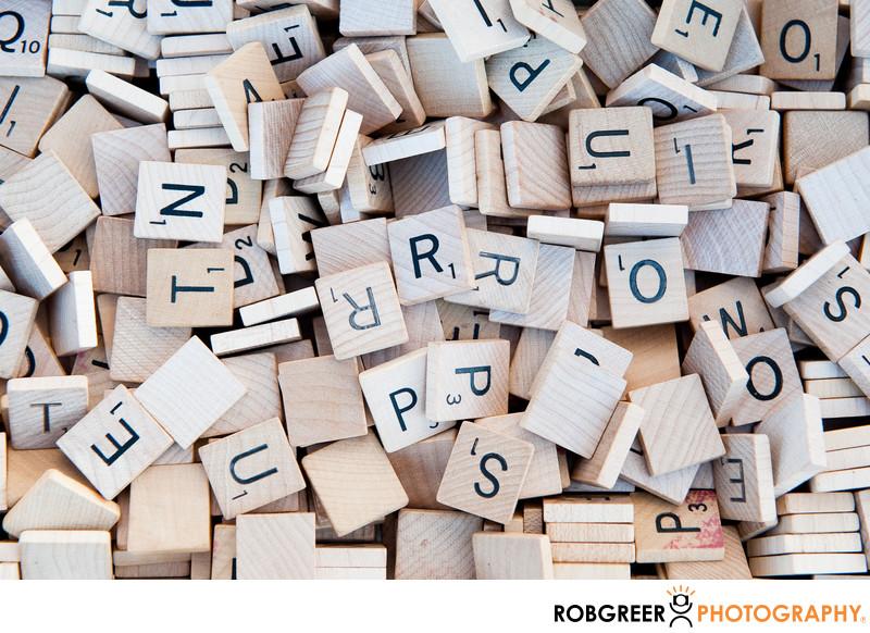 Plain Wooden Scrabble Tiles