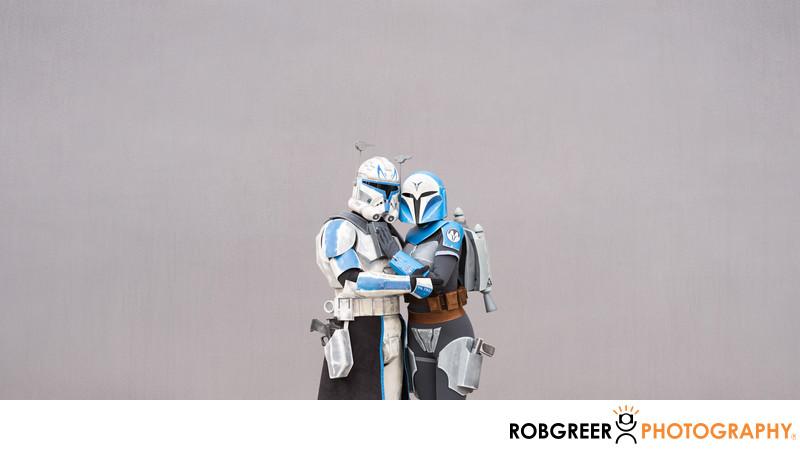 Captain Rex and Bo-Katan Loving Embrace