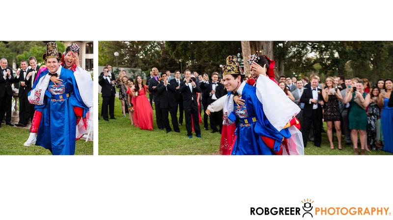Groom Carries Korean Bride During Tea Ceremony