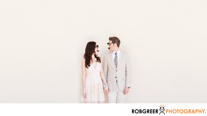 Engagement Session Album at Pasadena City Hall