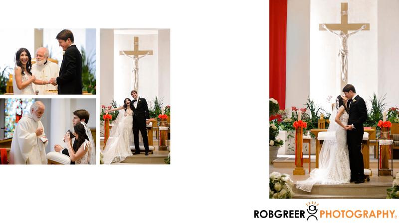 Exchanging Wedding Vows at Good Shepherd Church