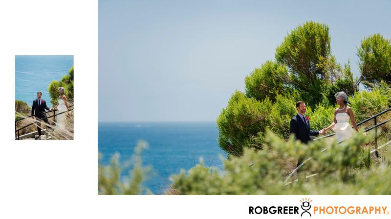 Oceanfront Greenery for Terranea Resort Wedding