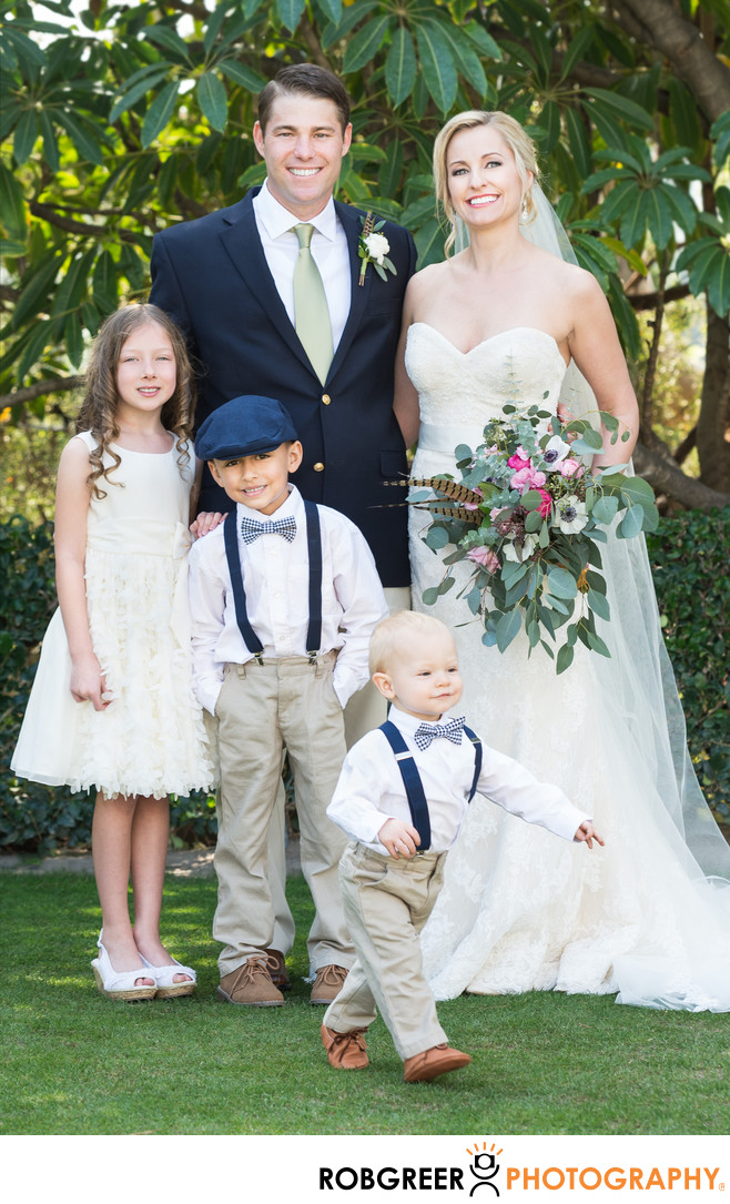 Ring Bearer Takes Off During Family Portraits