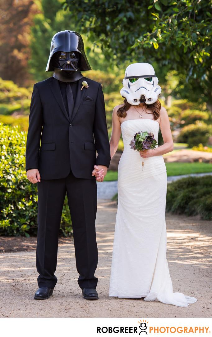 Star Wars Japanese Garden Wedding Photography