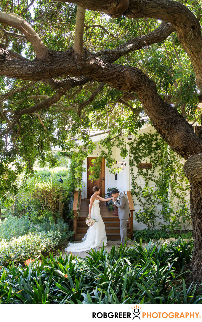 Wedding First Look at San Ysidro Ranch
