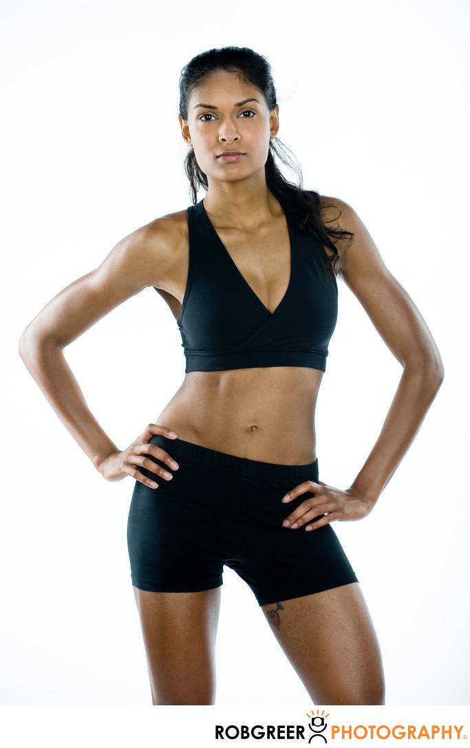 Female Indian Fitness Model Portrait