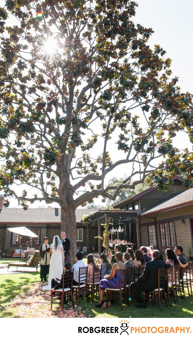 Wedding Ceremony at Private Home in Pasadena
