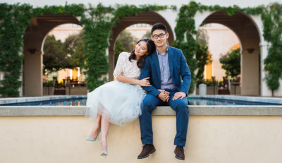 Asian Caltech Couple at Styled Engagement Session