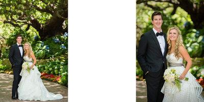 Bride & Groom Portrait in Front of Former Carson Estate