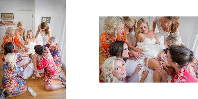 Bridesmaids Help with Garter
