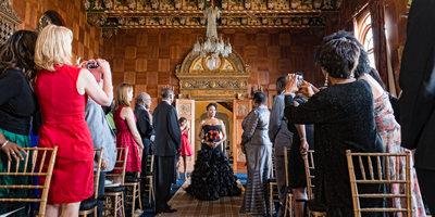 Wedding Processional at Villa Del Leon in Malibu