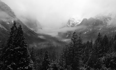 Meager Attempt at Clearing Winter Storm at Tunnel View